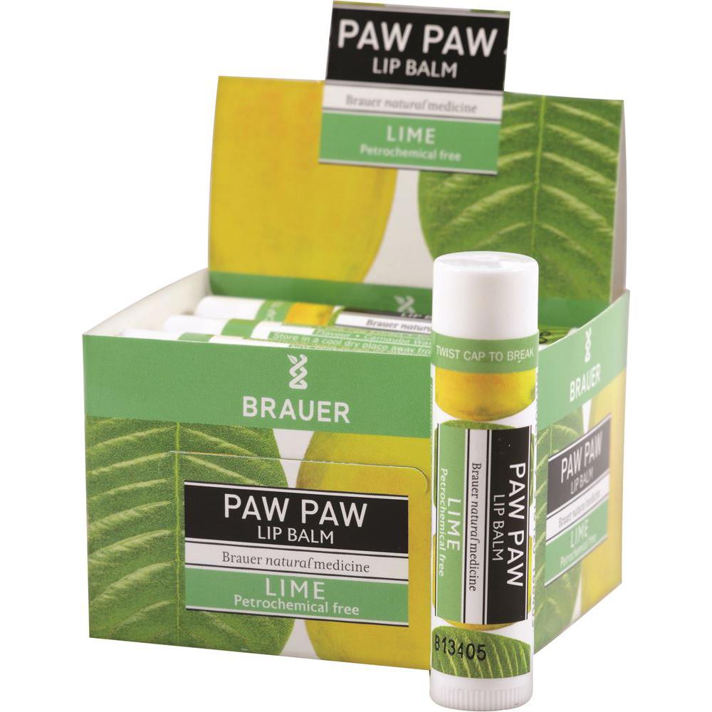 Brauer Paw Paw Lip Balm Lime 5g x 12 Display