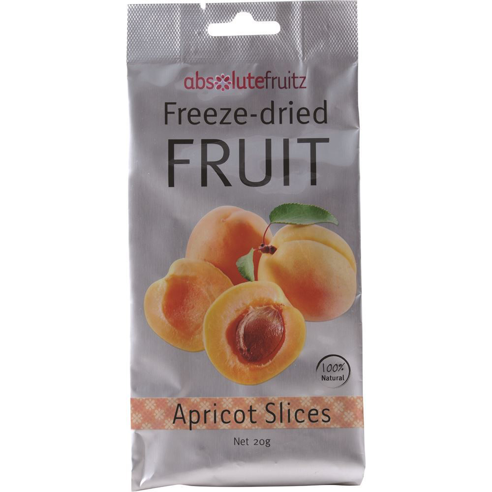 AbsoluteFruitz Freeze Dried Apricot Slices 20g