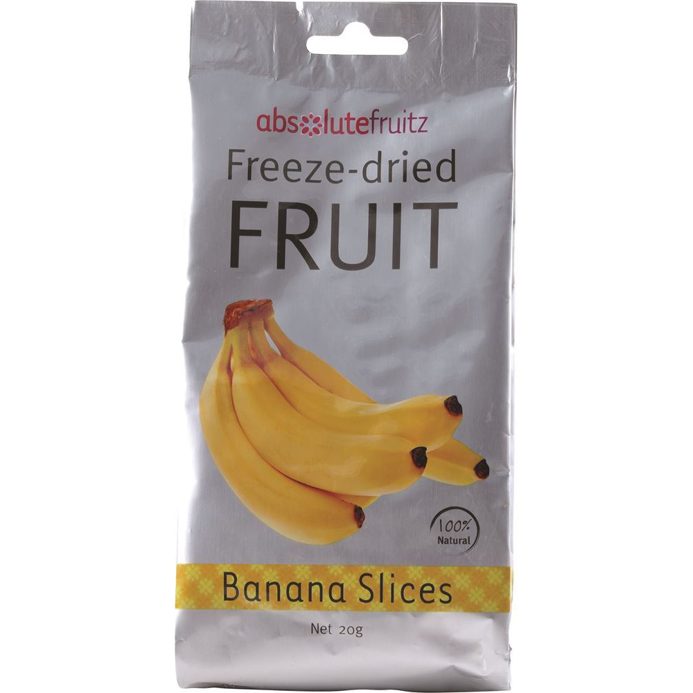 AbsoluteFruitz Freeze Dried Banana Slices 20g