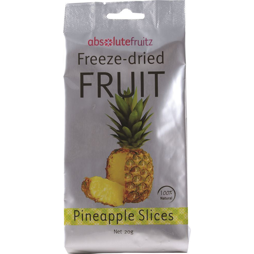 AbsoluteFruitz Freeze Dried Pineapple Slices 20g