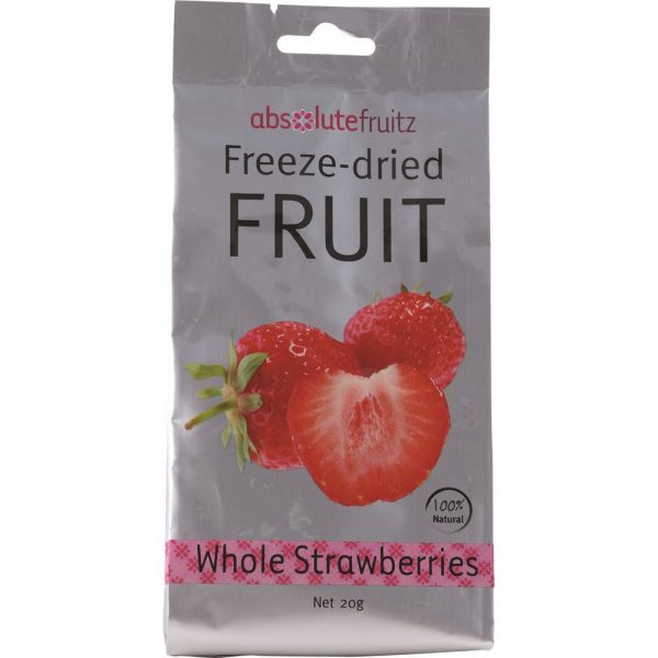 AbsoluteFruitz Freeze Dried Whole Strawberries 20g