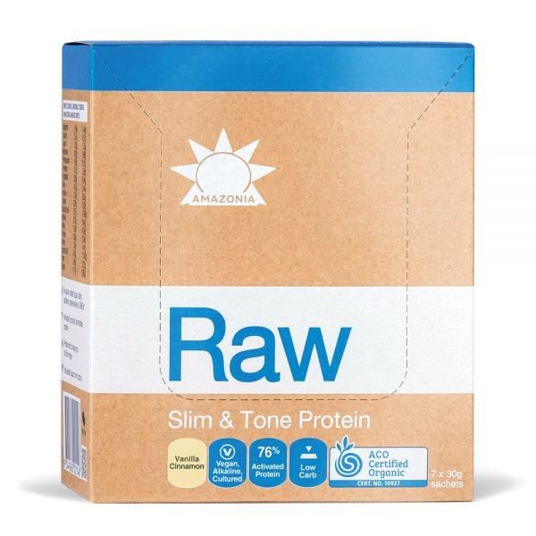 Amazonia Raw Protein Slim Tone Vanilla Cinnam 30g Sach x 7pk