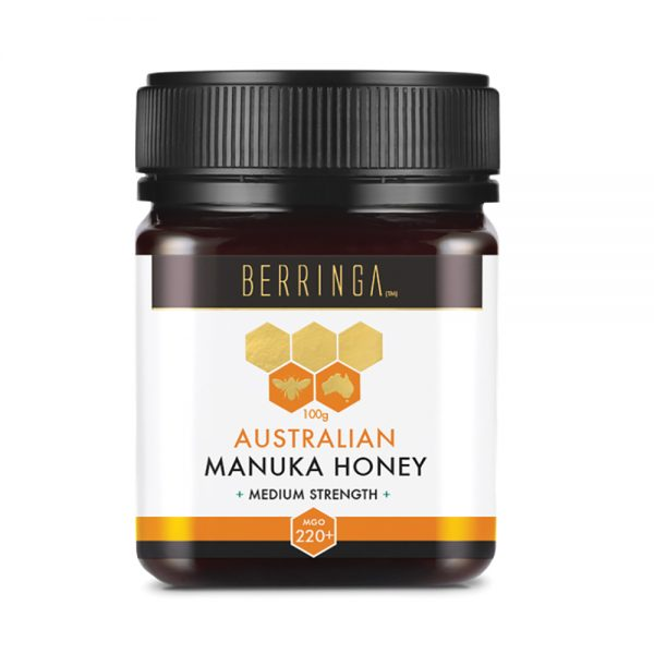 Berringa Aust Manuka Honey Medium Strength (MGO 220) 100g