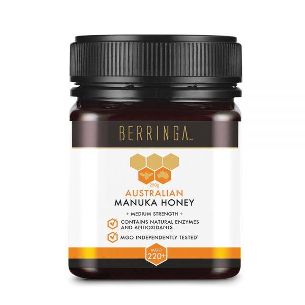 Berringa Aust Manuka Honey Medium Strength (MGO 220) 250g