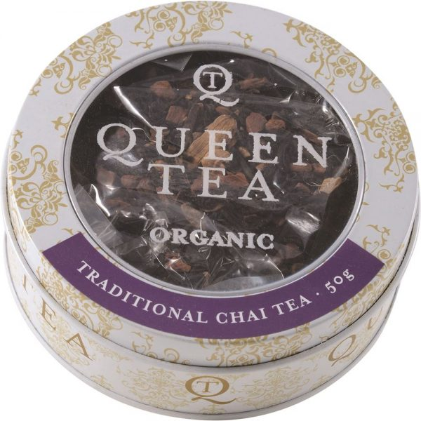 Queen Tea Organic Traditional Chai Tea Tin 50g