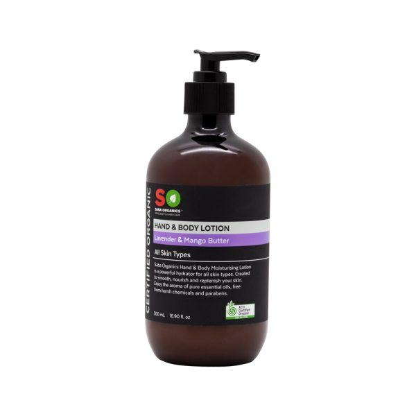 Saba Organics Hand Body Lotion Lavender Mango Butter 500ml